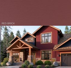 Exotic yet captivating, Red Brick is like swirling merlot sweeping across soft, smiling lips. A shade that gracefully balances sophistication and rustic charm while highlighting the style and personality of any home. | Get a FREE quote on Mastic vinyl #siding today! www.carefreehomescompany.com