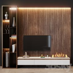 Tv Sets, Electric Fireplace, Modern Materials, Wood Colors, Minimalism, Wall Tv, Concept, Models, 3d