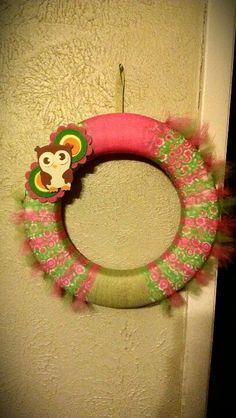 Owl, baby wreath