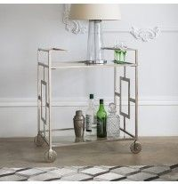 There have been quite a few high street reinterpretations of the bar cart recently. Doing the job with Art Deco style is the Riley drinks trolley by Atkin Bar Trolley, Drinks Trolley, Bar Carts, Handmade Furniture, Unique Furniture, Contemporary Furniture, Art Deco Furniture, Home Furniture, Hostess Trolley