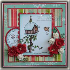Lili of the Valley and Cute Card Thursday challenges Noel Christmas, Christmas Animals, Holiday Cards, Christmas Cards, Animal Cards, Winter Cards, Card Sketches, Digital Stamps, Creative Cards