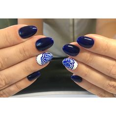 Beautiful Navy Blue Set - nail art #acrylics #nails