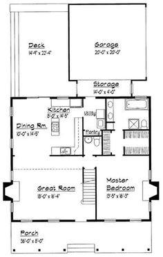 Country Floor Plan - Main Floor Plan Plan #1051-7