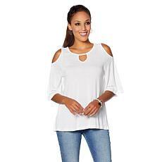 30ac33508bfa8 DG2 by Diane Gilman Cold-Shoulder Keyhole Top Clothing Styles