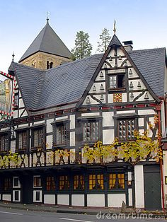 Ancient Half Timbered House In Germany Stock Image