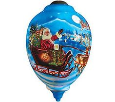 Limited Edition Santa's Magic Flight Ornament by Ne'Qwa