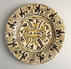 "Slip Painted Calligraphic Bowl - ADC.72 Origin: Central Asia Circa: 10 th Century AD to 11 th Century AD Dimensions: 1.38"" (3.5cm) high x..."