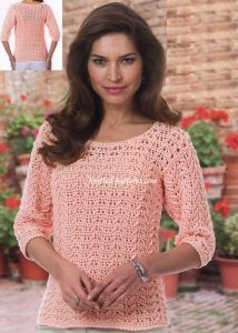 Crochet Textured  Top Free Pattern                                                                                                                                                      More