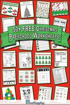 Christmas Worksheets, Christmas Math, Christmas Activities For Kids, Preschool Christmas, Preschool Worksheets, Preschool Activities, Alphabet Worksheets, Christmas Printables, Xmas