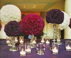 luscious floral ball centerpieces, from The Knot Ultimate Wedding Lookbook