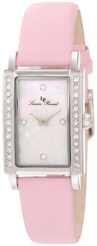 Lucien Piccard Women's 11673-02MOP-LPK Monte Baldo Crystal Accented White Patterned Mother-Of-Pearl Dial Light Pink Leather Watch Lucien Piccard. $59.99. Crystal accents. Japanese quartz movement. Sapphitek crystal; stainless steel case; light pink leather strap. White patterned mother of pearl dial with silver tone hands and 4 white crystal hour markers; stainless steel bezel with white crystal accents. Water-resistant to 30 M (99 feet)