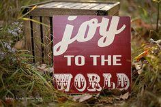 Christmas Sign, Joy to the World, Holiday Sign, Christmas Decor, Rustic Christmas Decor, vintage style