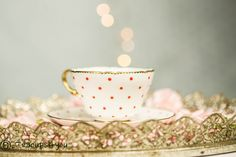 Shelley Orange Polka Dot Tea Cup and Saucer with gold rim VGC by Teacups4you on Etsy