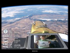 $25 Could Soon Buy You a Photograph of Your Face in Space ARKYD Selfie Shots 2