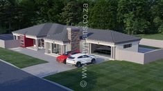 4 Bedroom House Plan - My Building Plans South Africa Round House Plans, Tuscan House Plans, Split Level House Plans, Square House Plans, Metal House Plans, Free House Plans, 6 Bedroom House Plans, Family House Plans, House Plans South Africa
