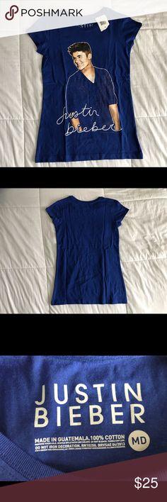 Justin Bieber T Shirt New with tags Justin Bieber T shirt Shirts & Tops Tees - Short Sleeve
