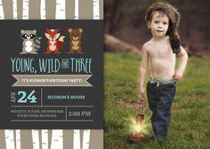 Hudson is Young, Wild, & THREE | Woodland Birthday Party | Wild Man Birthday Party