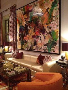 Modern art in the living room