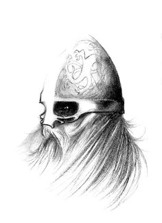 SciFi and Fantasy Art Viking Head & Helm by R. Pettersson