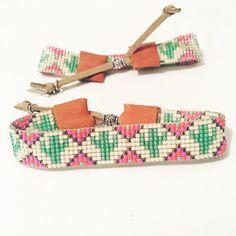 - Native American Inspired Handmade miyuki delica beaded bracelet by EdenRainBeadworks on Etsy Loom Bracelet Patterns, Bead Loom Bracelets, Bead Loom Patterns, Beaded Jewelry Patterns, Beading Patterns, Jewelry Bracelets, Bead Jewellery, Seed Bead Jewelry, Seed Bead Earrings