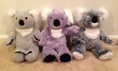 3pc Lot Build A Bear KOALA BEAR Plush Stuffed Animals Toys BABW