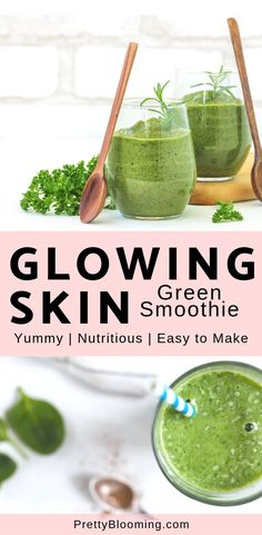 Today s post motto is Healthy skin can be affordable and tasty How I have a glowing skin green smoothie recipe for you - it s easy it s yummy it s nutritious and your skin will love it Let s get started greensmoothie glowingskin foodforskin # Smoothie Prep, Good Smoothies, Juice Smoothie, Smoothie Drinks, Making Smoothies, Breakfast Smoothies, Detox Smoothies, Foods For Healthy Skin, Healthy Drinks