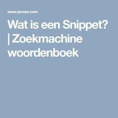 Wat is een Snippet? | Zoekmachine woordenboek