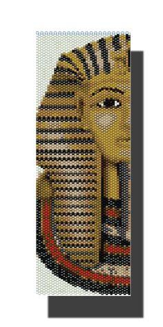 Tutankhamun PEYOTE Pattern Beaded Bracelet by DragonsLairPatterns, £3.95