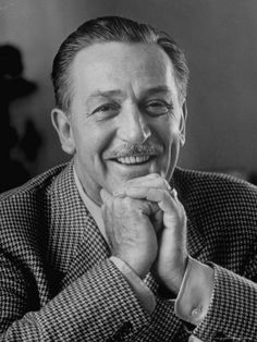 Walt Disney in Smiling Portrait Premium Photographic Print by Alfred Eisenstaedt - Icon People - Ideas of Icon People - Oliver Disney, Disney Love, Disney Magic, Disney Stuff, Walt Disney World, Disney Pixar, Illinois, Prince Charmant, Walter Elias Disney