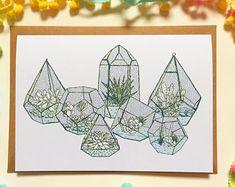 A5 Teeny Terrariums Card