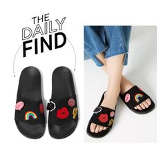 """The Daily Find: Zara Slides"" by polyvore-editorial ❤ liked on Polyvore featuring DailyFind"