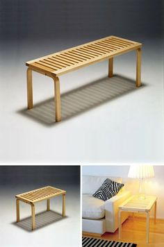 Artek bench - could be used as side table or as bench
