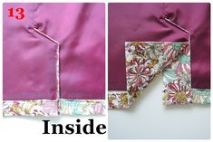 A great tutorial with illustrations on how to line a skirt back pleat