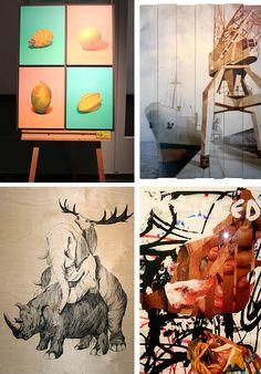 Foto-Design-Wettbewerb im HAW Hamburg. Digitaldruck auf weißem Acryl auf schwarzer MDF-Platte, auf rustikalen Weiß lackierten Holzplanken, auf Holz und auf Glas   Direktdruck Hamburg
