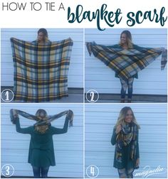 4 Steps to tie a Blanket Scarf by Magnolia Boutique