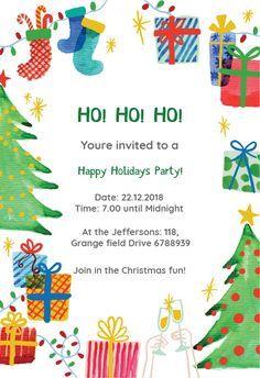 Best Holiday Ever Christmas Invitation Template Free Greetings Island Christmas Invitations Template Christmas Party Invitation Template Christmas Party Invitations Printable