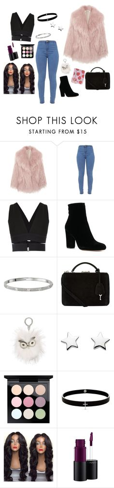 """Front row seats."" by bunnisexy ❤ liked on Polyvore featuring Miu Miu, Osklen, Cartier, Mark Cross, Kate Spade, MAC Cosmetics, Lynn Ban and Buxton"