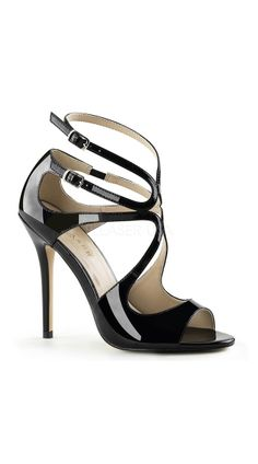 71b4517ab189 Strut like a true vixen in this strappy stiletto sandal. With a 5 inch  skinny