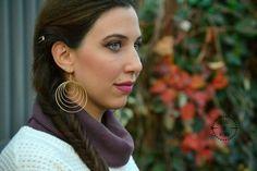 Golden cirle earrings