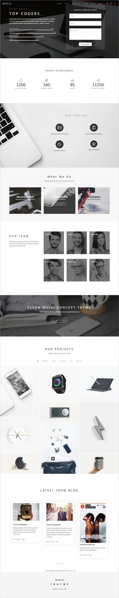 Maple is a #minimal design responsive #WordPress theme for #corporate business websites with 4 homepage layouts download now➩ https://themeforest.net/item/maple-responsive-clean-multipurpose-wordpress-theme/19075153?ref=Datasata