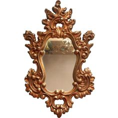 Vintage Syroco Gold Rococco Ornate Mirror 1966 Hollywood Regency from mercymaude on Ruby Lane