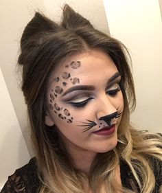 Leopard Cat hair and makeup. Halloween ideas
