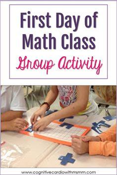 Math Teacher, Math Classroom, Teaching Math, Teacher Stuff, Teaching Ideas, Classroom Ideas, Middle School Activities, Math Activities, Math Games