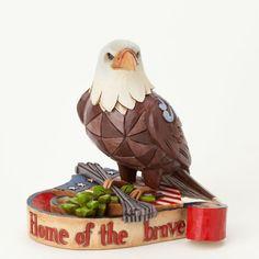 Jim Shore Heartwood Creek Mini Miniature Patriotic Eagle Animal Figurine 4037682
