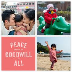 Peace and Goodwill (Multi-Photo) - Pink - Paperless Post