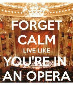 Forget calm!