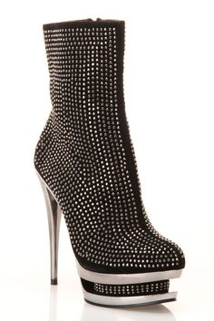 Crystal Love Bootie In Black