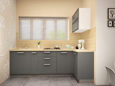 Buy Italo L-Shaped Modular Kitchen from Capricoast. L Shaped Modular Kitchen, L Shaped Kitchen, Double Vanity, Kitchens, Mirror, Design, Furniture, Home Decor, L Shape Kitchen