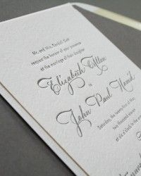 Elizabeth + John's Classic Calligraphy Wedding Invitations