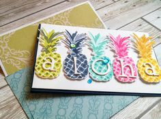 Flutter by atomicbutterfly: ALOHA! Hand Stamped Cards, Stamping Up Cards, Card Making Techniques, Handmade Birthday Cards, Creative Cards, Flower Cards, Cute Cards, Scrapbook Cards, Handmade Crafts